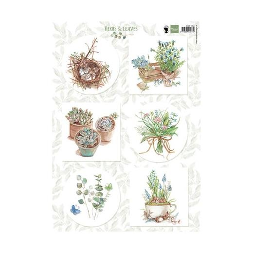 Marianne Designs A4 Cutting Sheet - Herbs & Leaves 1