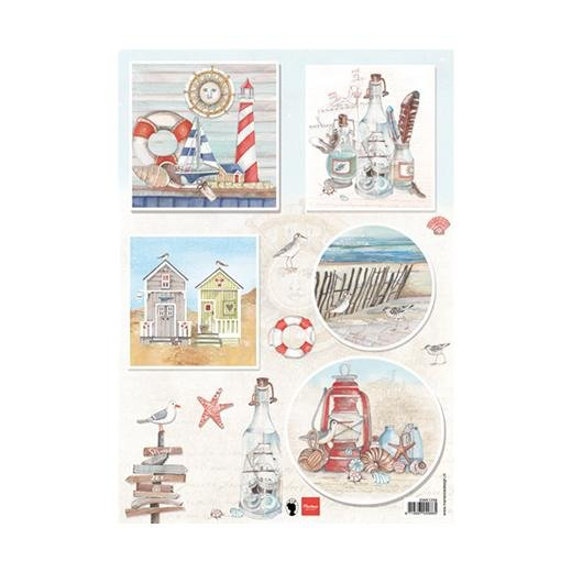 Marianne Designs A4 Cutting Sheet - Els Seabreeze 1