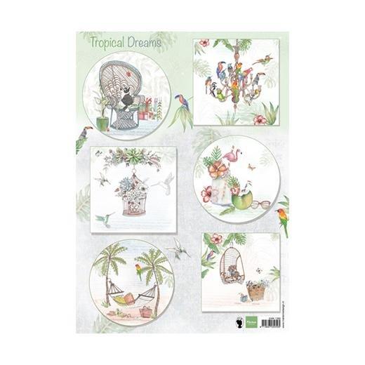 ^Marianne Designs - A4 Cutting Sheet - Els Tropical Dreams