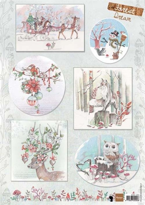 Marianne Design A4 Cutting Sheet - Els Forest Dream 2