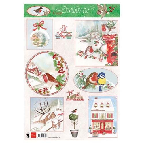 Marianne Design A4 Cutting Sheet - Cozy Christmas 2