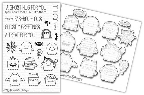 My Favorite Things - Fab-BOO-lous Friends Stamp and Die Combo