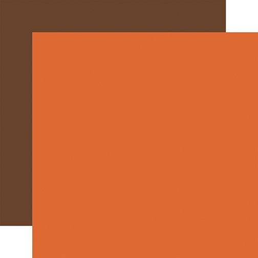 Echo Park - Fall - ORANGE-BROWN - 12x12 Double-Sided Paper