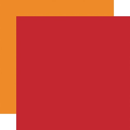 Echo Park - Fall - RED-LT ORANGE - 12x12 Double-Sided Paper