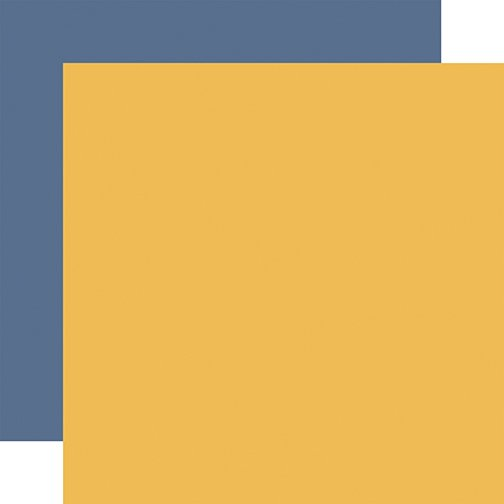 Echo Park - Fall - YELLOW-BLUE - 12x12 Double-Sided Paper