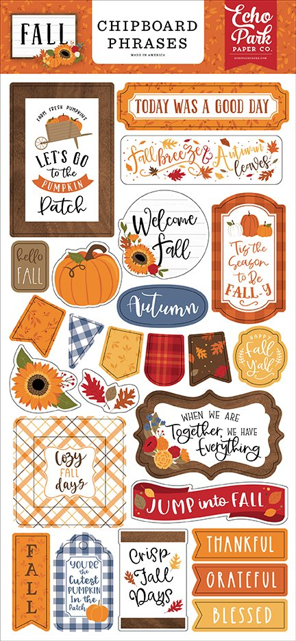 Echo Park - Fall - Chipboard Phrases