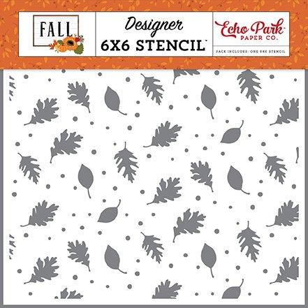 Echo Park - Stencil - Brisk Leaves