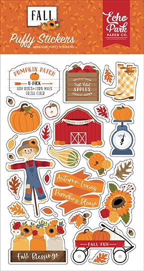 Echo Park - Fall - Puffy Stickers