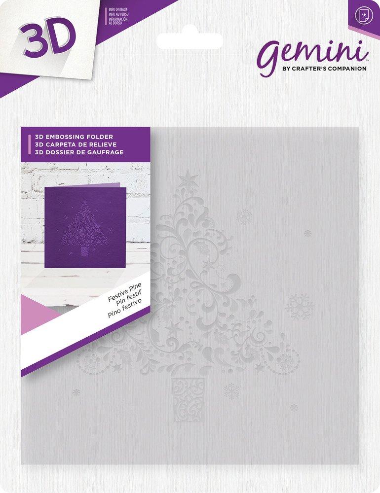 Gemini 3D Embossing Folder - Festive Pine