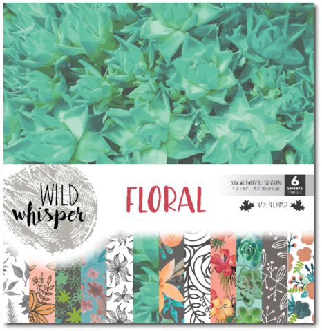 Wild Whisper - Floral Collection - 12x12 Paper Pack