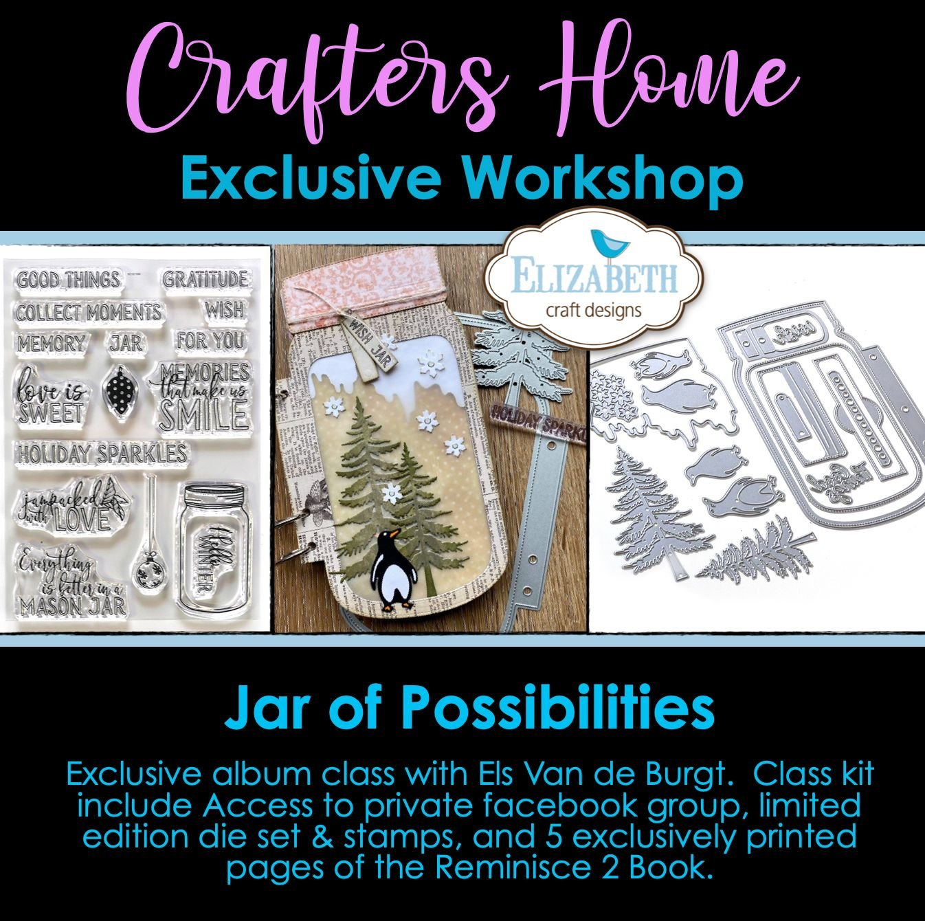 ONLINE CLASS EXCLUSIVE:  Jar of Possibilities with Elizabeth Crafts