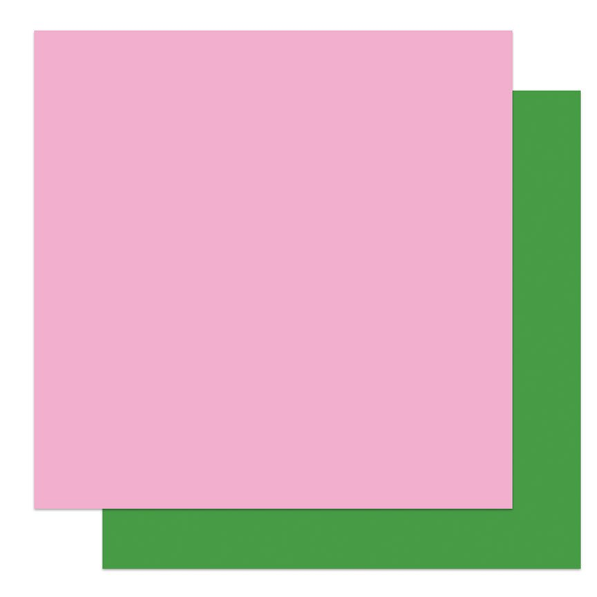 PhotoPlay - Solids Plus - PINK | GREEN - 12x12 Double-Sided Paper