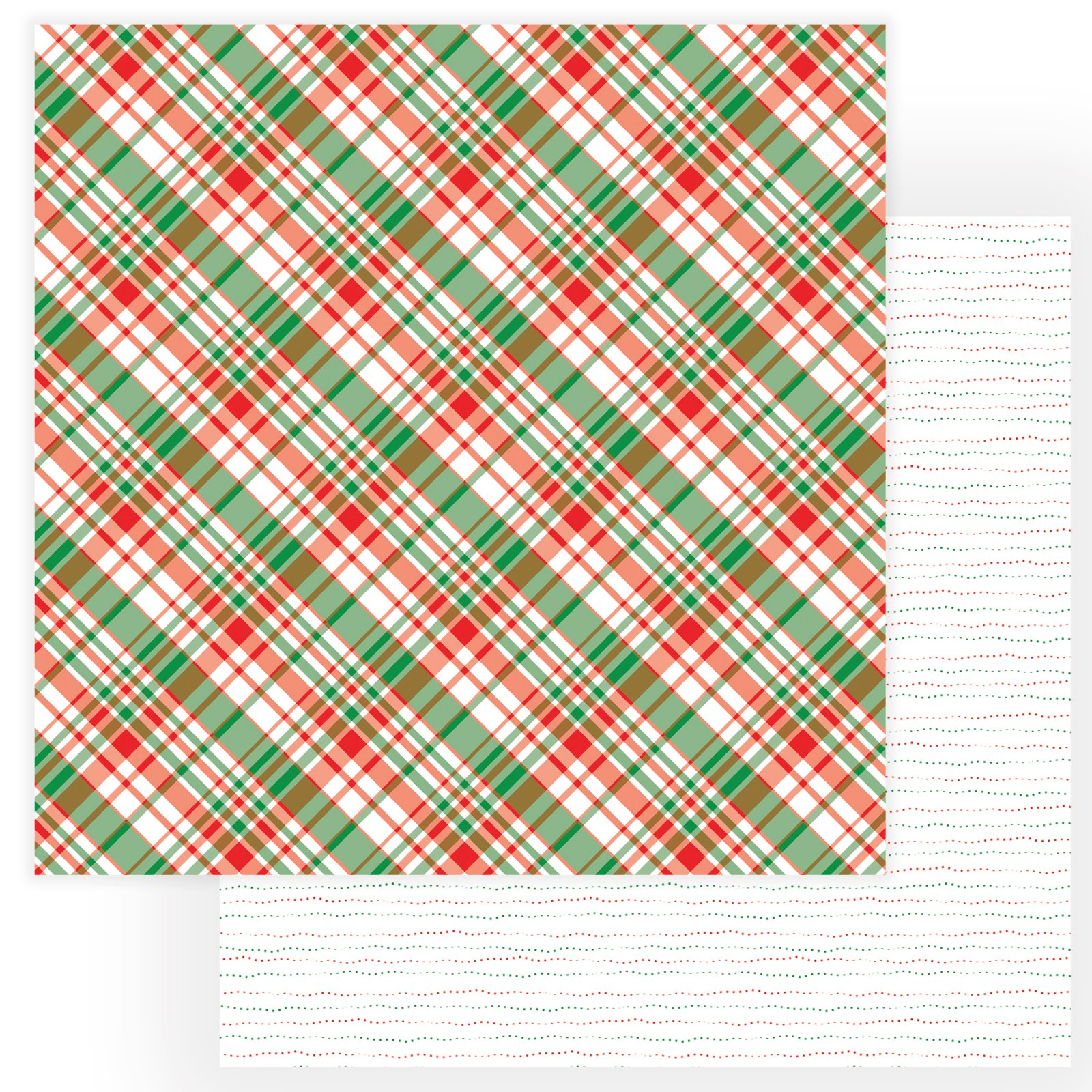^PhotoPlay - Gnome For The Holidays - Flannel Shirt - 12x12 Double-Sided Paper