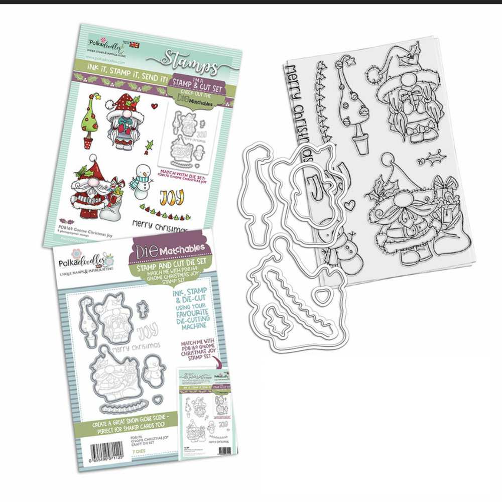 Polkadoodles - Gnome Christmas Joy - Stamp and Die BUNDLE