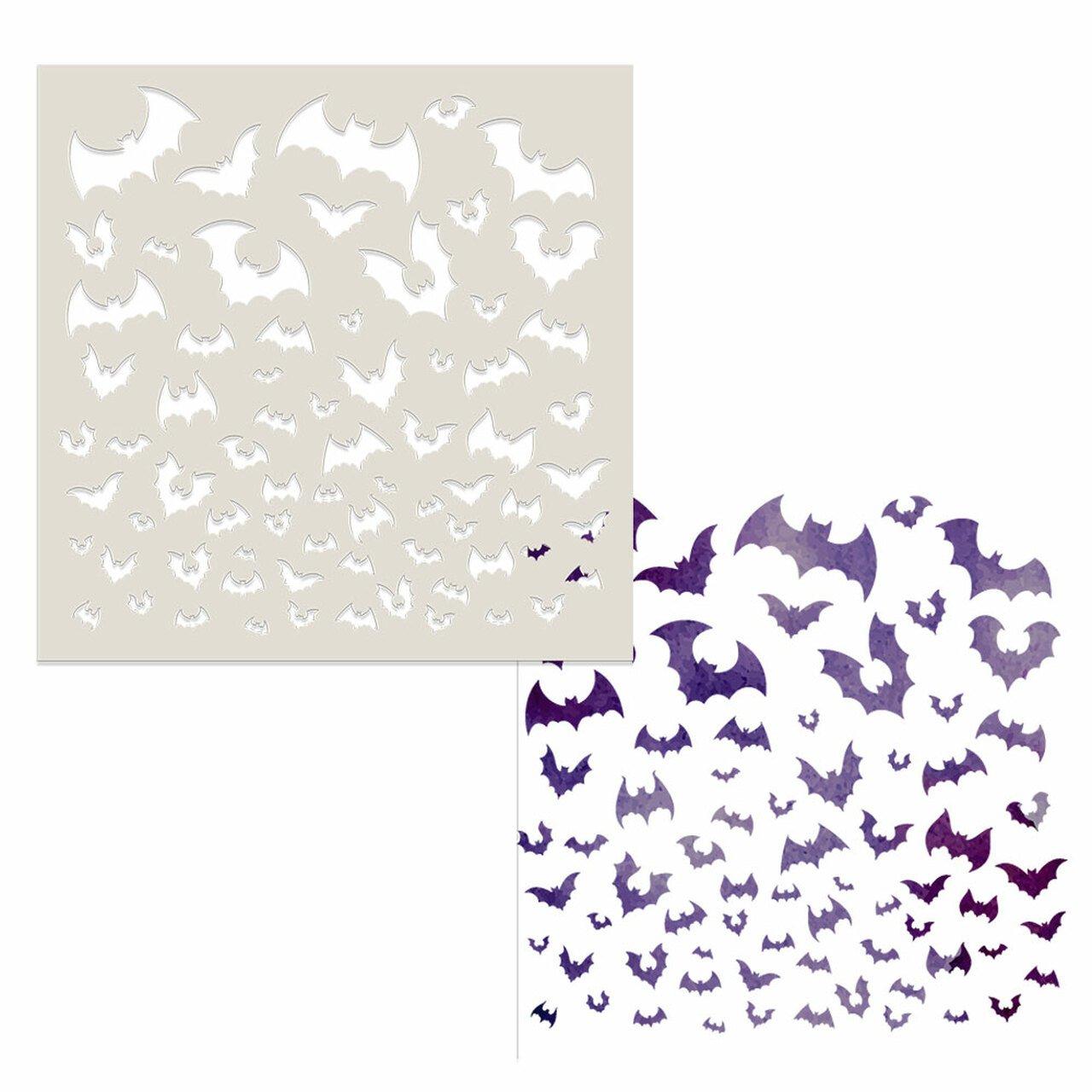Polkadoodles - Stencil - Going Batty