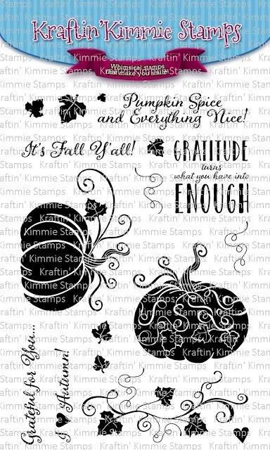 Kraftin' Kimmie - Stamps - Grateful Pumpkins