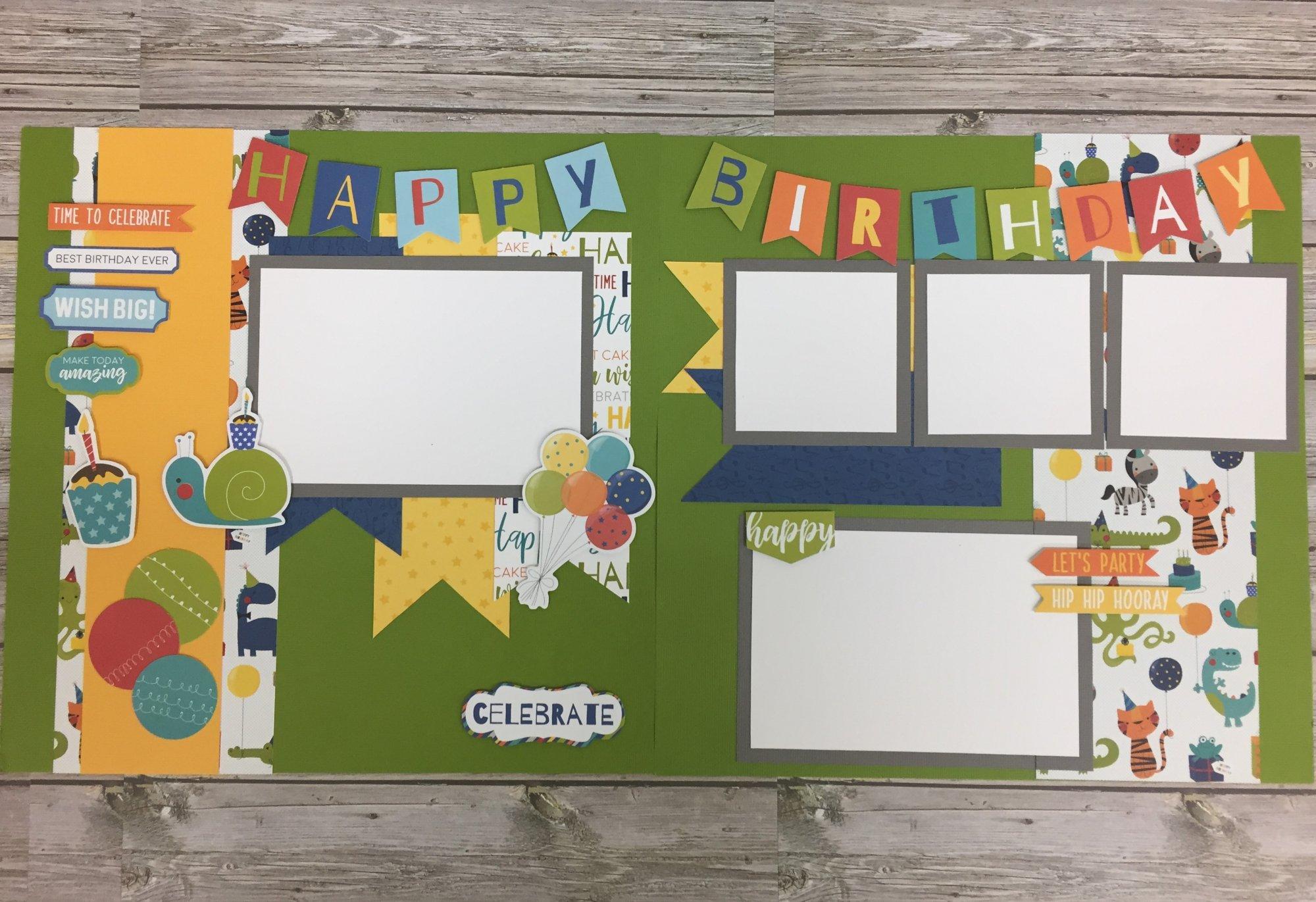 Happy Birthday Boy Layout Kit