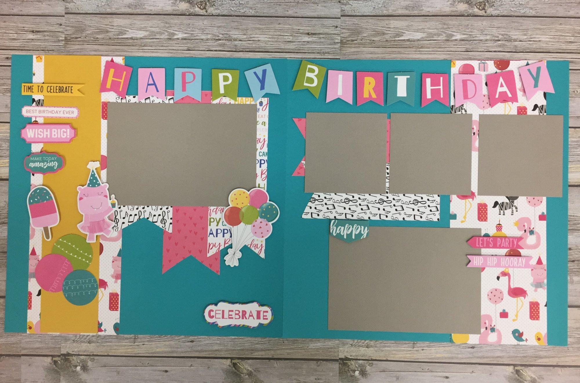 Happy Birthday Girl Layout Kit