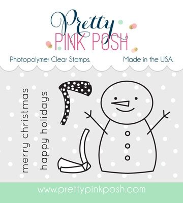 Pretty Pink Posh - Happy Snowman Stamp and Die Combo