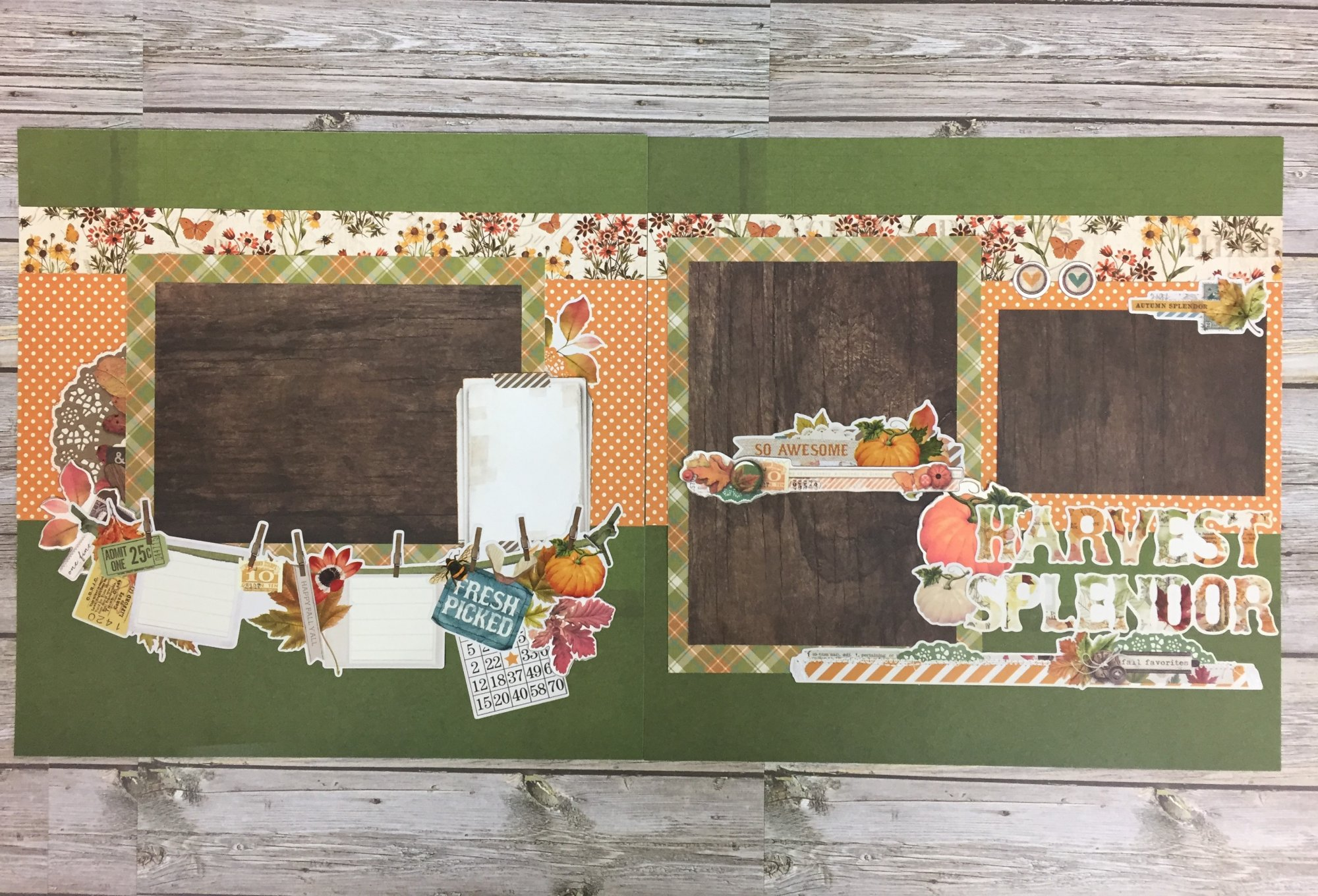 Harvest Splendor Layout Kit by Simple Stories