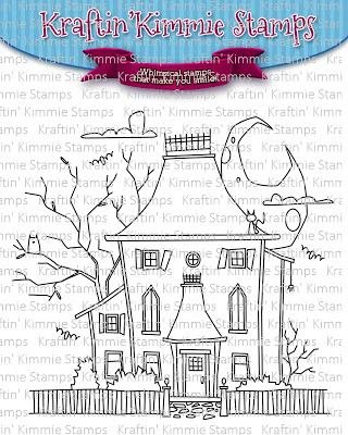 ^Kraftin' Kimmie - Stamps - Haunted House
