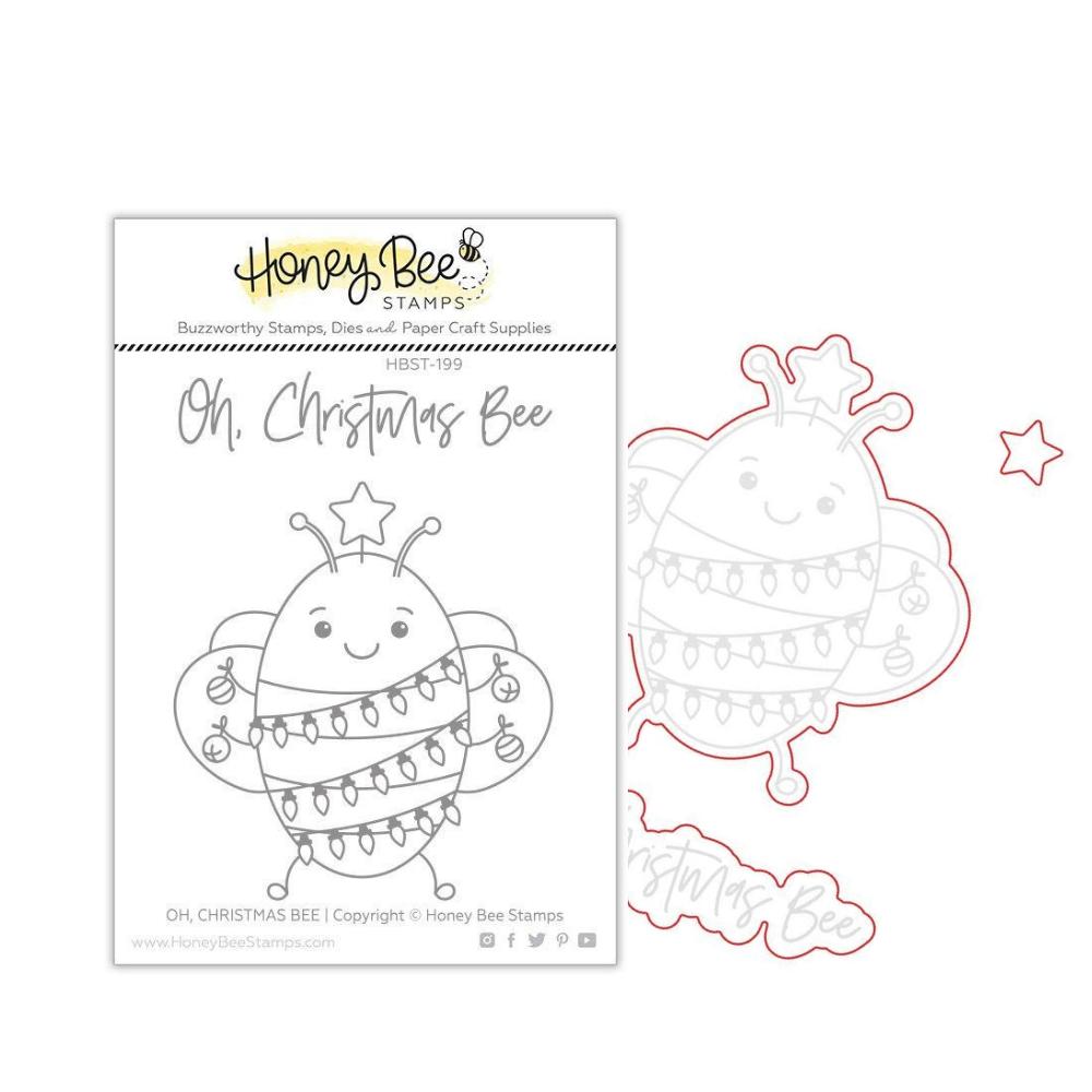 Honey Bee - BUNDLE - Oh Christmas Bee, Stamp Set and Coordinating Dies