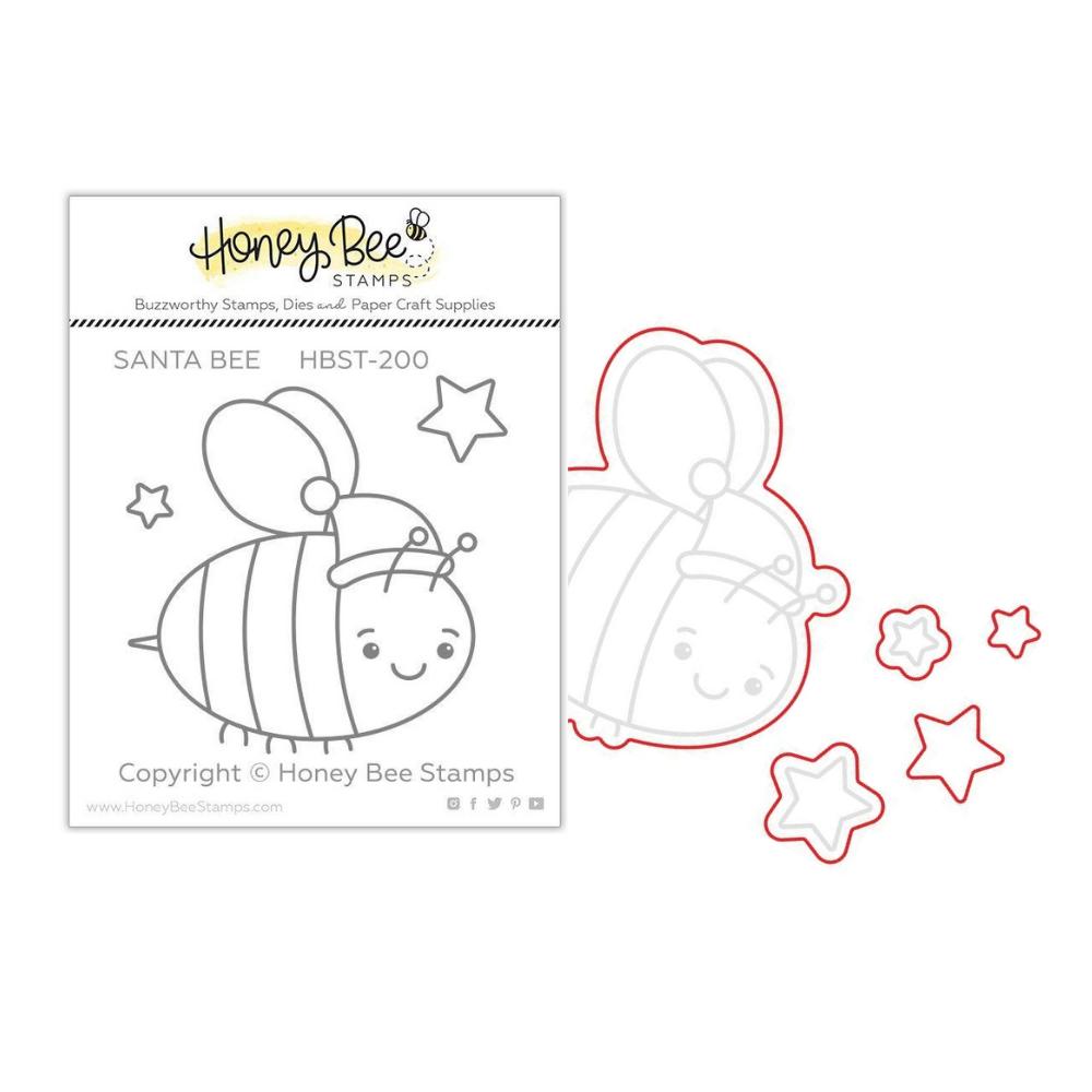 Honey Bee - BUNDLE - Santa Bee, Stamp Set and Coordinating Dies