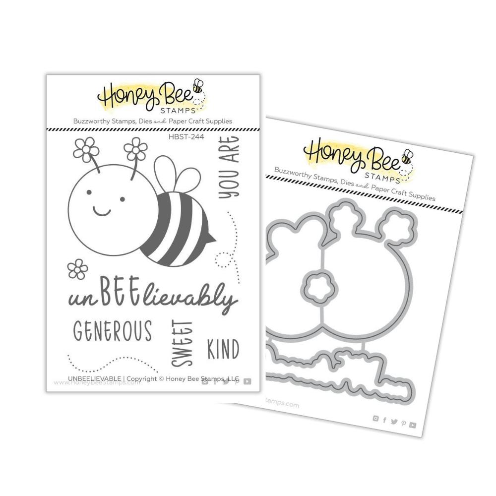 Honey Bee - BUNDLE - UnBEElievable, Stamp Set and Coordinating Dies