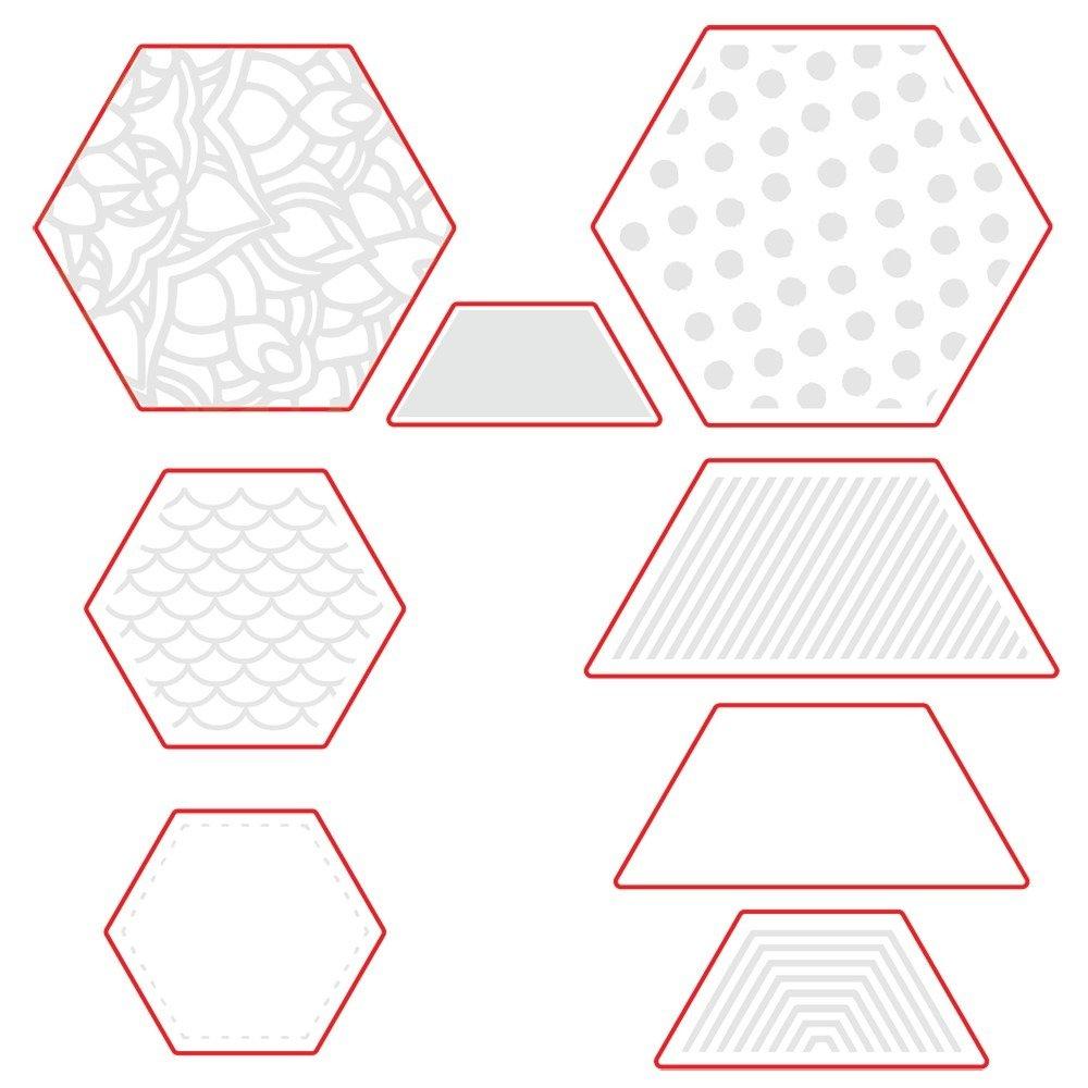 Honey Bee - Honey Cuts - Hexagon Patterns Die