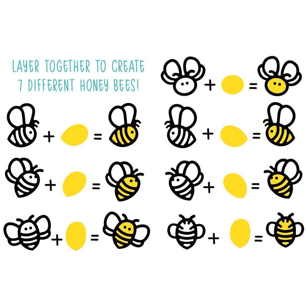 Honey Bee - Honey Cuts - Honey Bees Paper Piecing Die Set