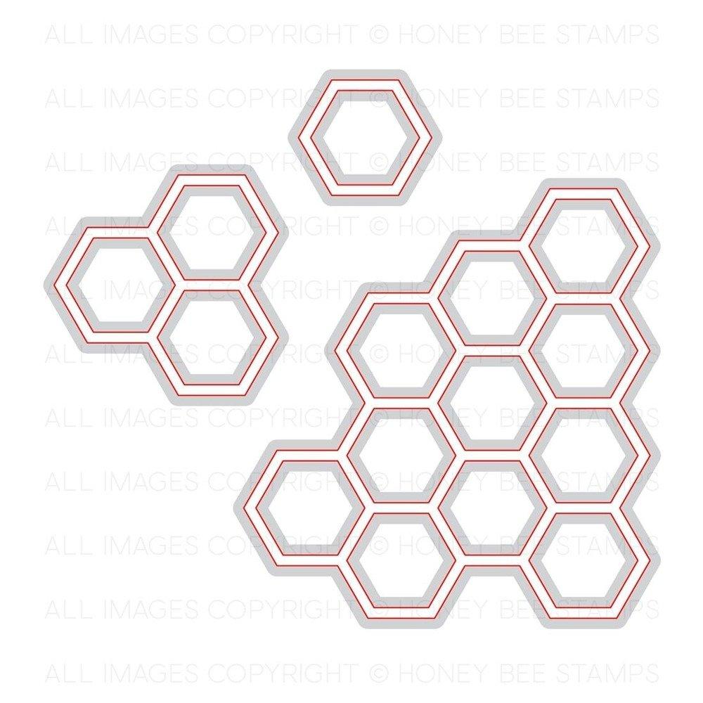 Honey Bee - Honey Cuts - Hexagon Bunches Die Set