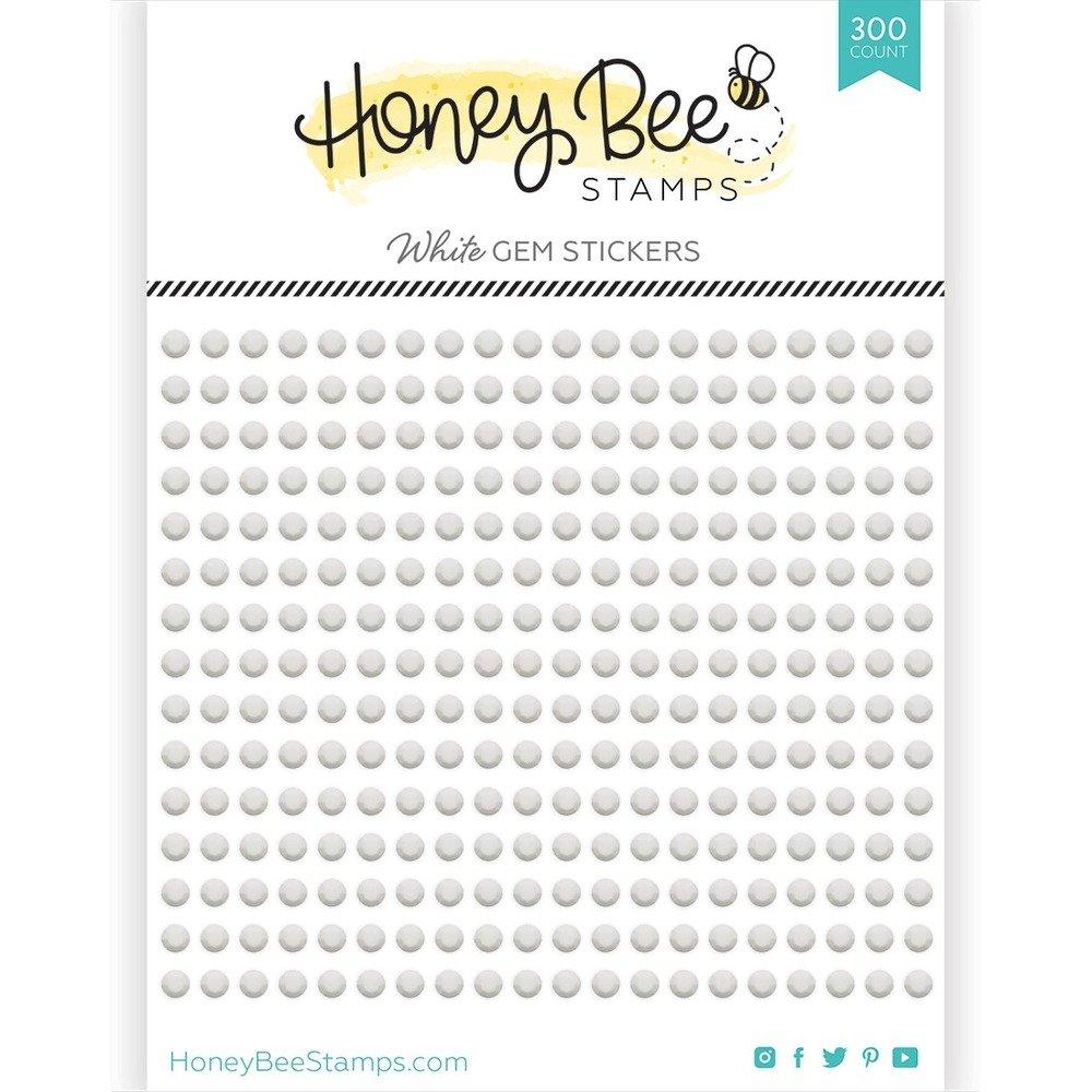 Honey Bee - Gem Stickers - White