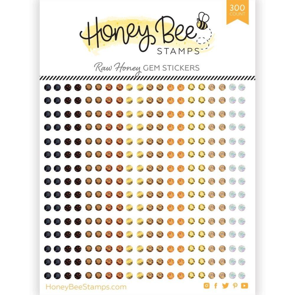 Honey Bee - Gem Stickers - Raw Honey