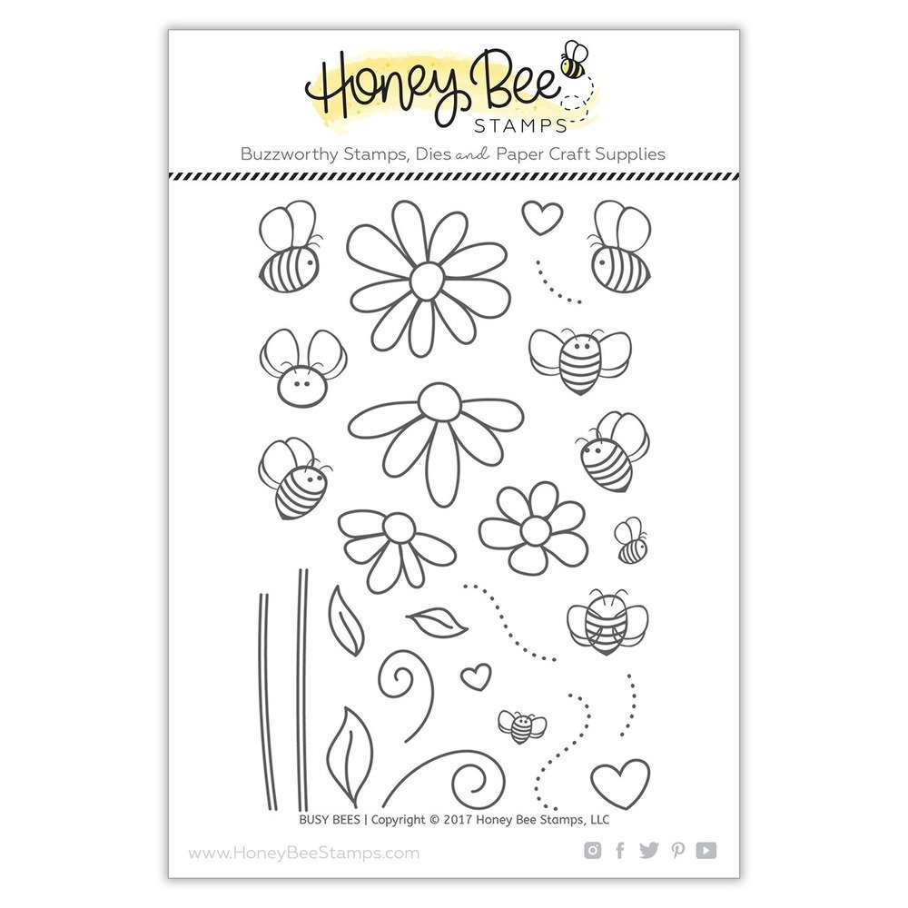 Honey Bee - Clear Stamps - Busy Bees