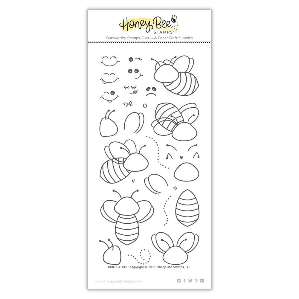 Honey Bee - Clear Stamps - Build-A-Bee