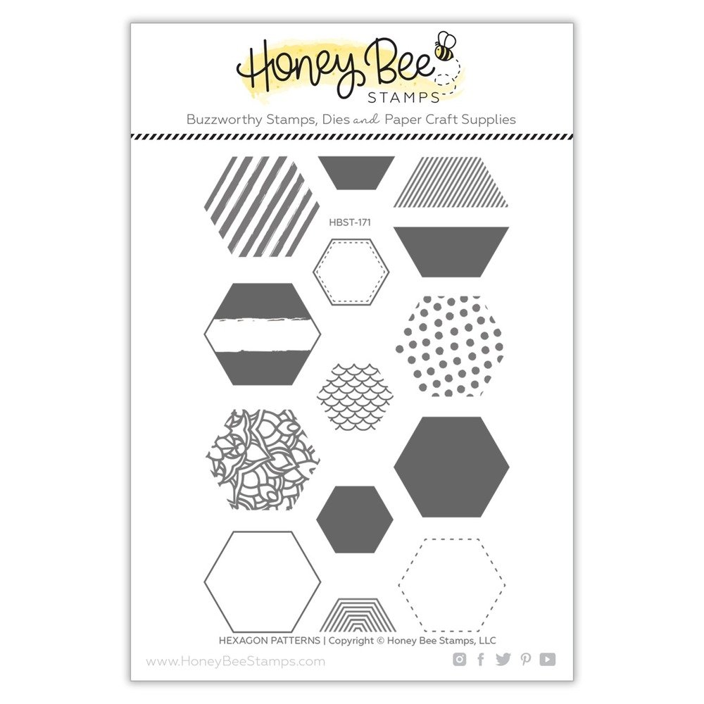 Honey Bee - Clear Stamps - Hexagon Patterns