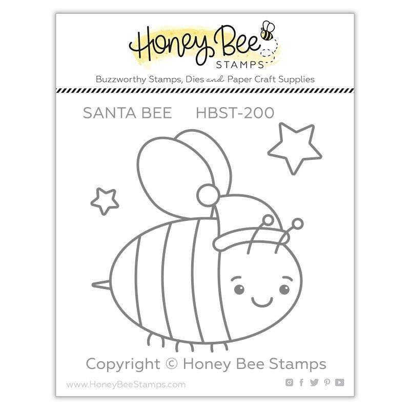 Honey Bee - Clear Stamps - Santa Bee