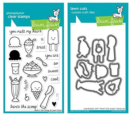 Lawn Fawn - Here's the Scoop Stamp and Die Combo