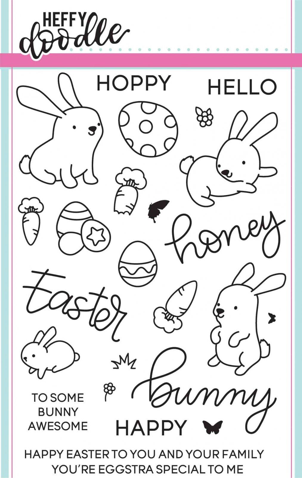 Heffy Doodle - Honey Bunny Boo Stamp and Die Combo Set