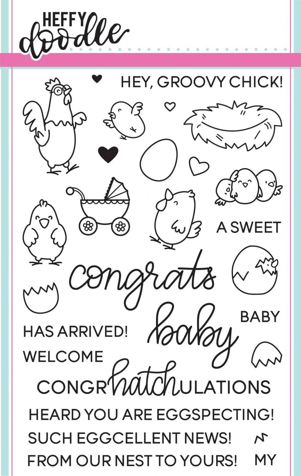 Heffy Doodle - Eggcellent News Stamp Set