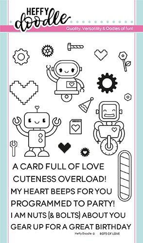 ^Heffy Doodle - Bots of Love Stamp and Die Combo Set