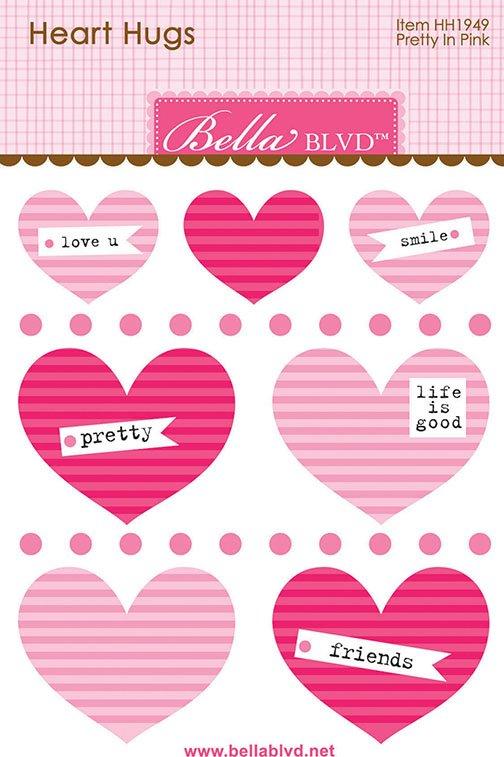 ^Bella Blvd Heart Hugs - Pretty in Pink (CLEARANCE)
