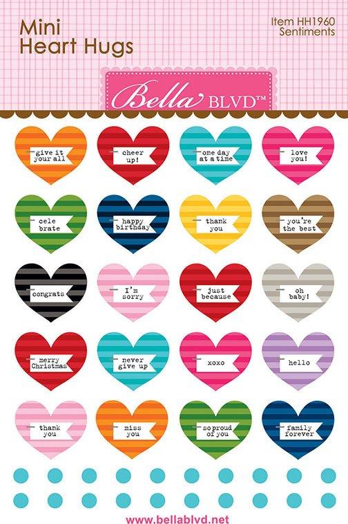 Bella Blvd - Mini Heart Hugs - Sentiments