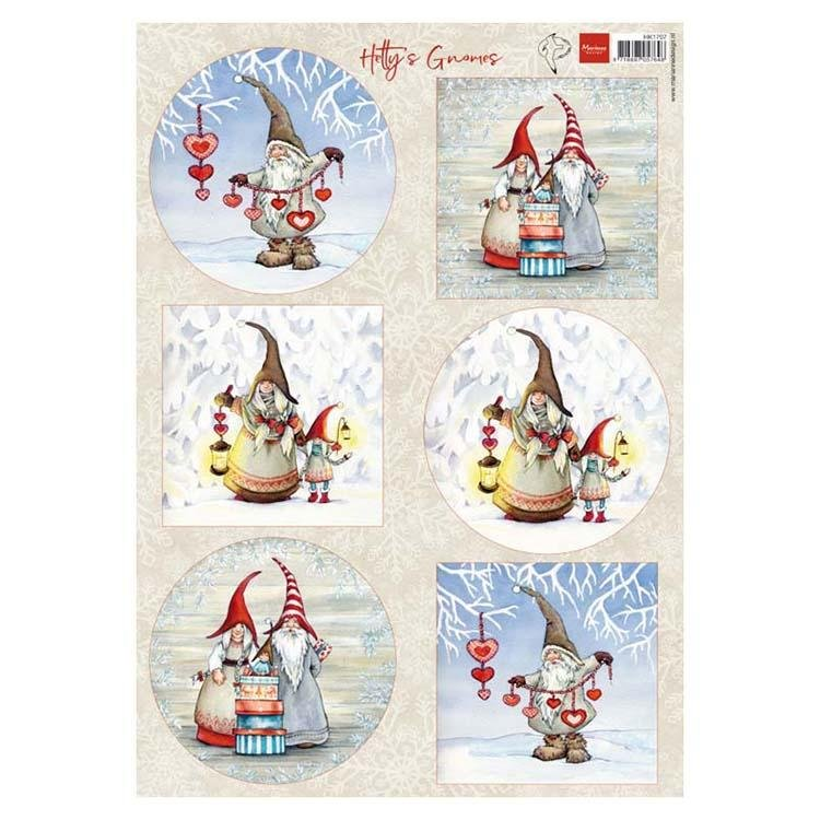 Marianne Designs A4 Cutting Sheet - Hetty's Winter Gnomes