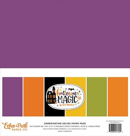 Echo Park - Halloween Magic - 12x12 Coordinating Solids Paper Pack