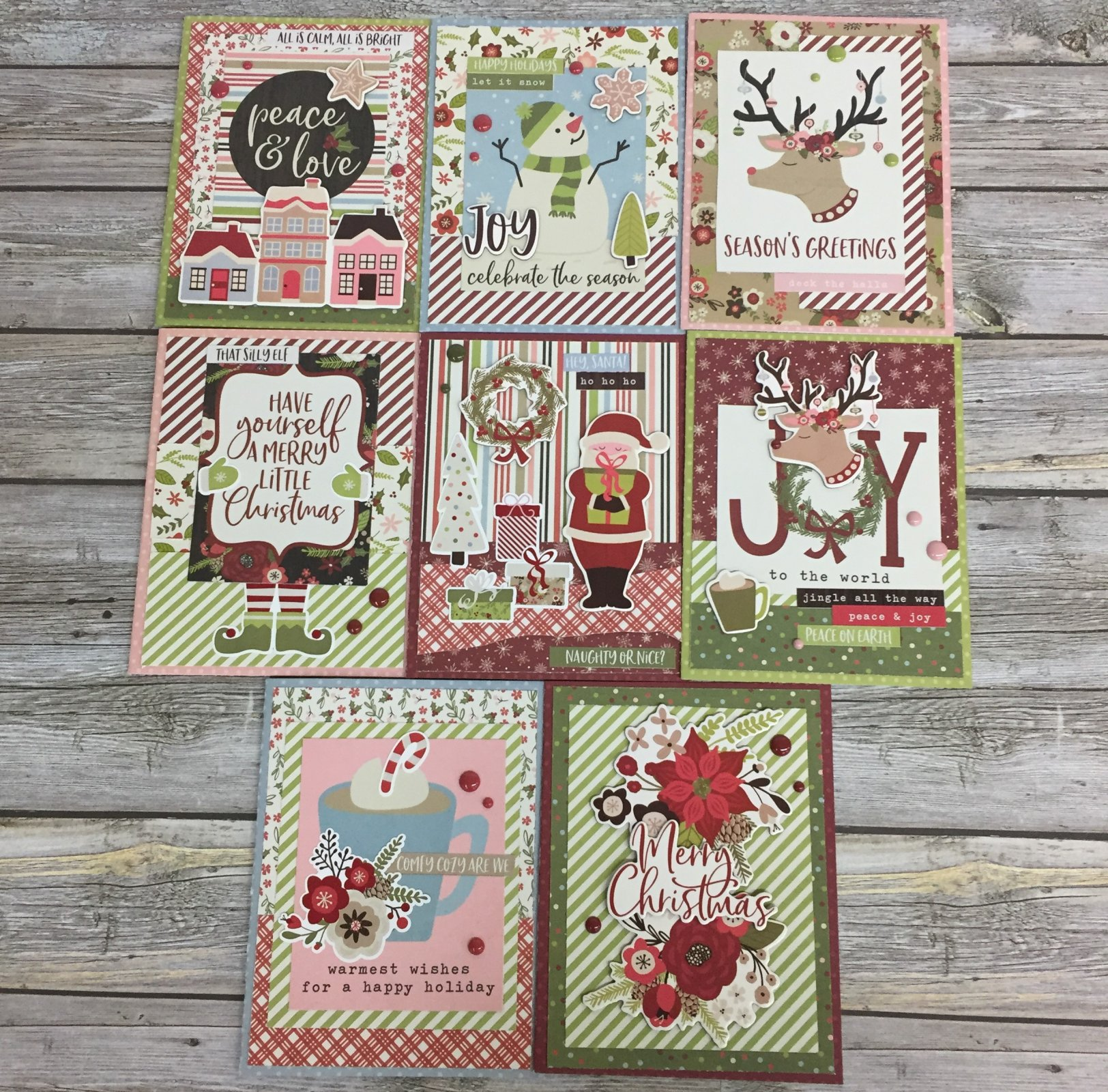 Holly Jolly Card Kit by Simple Stories (8 Cards)
