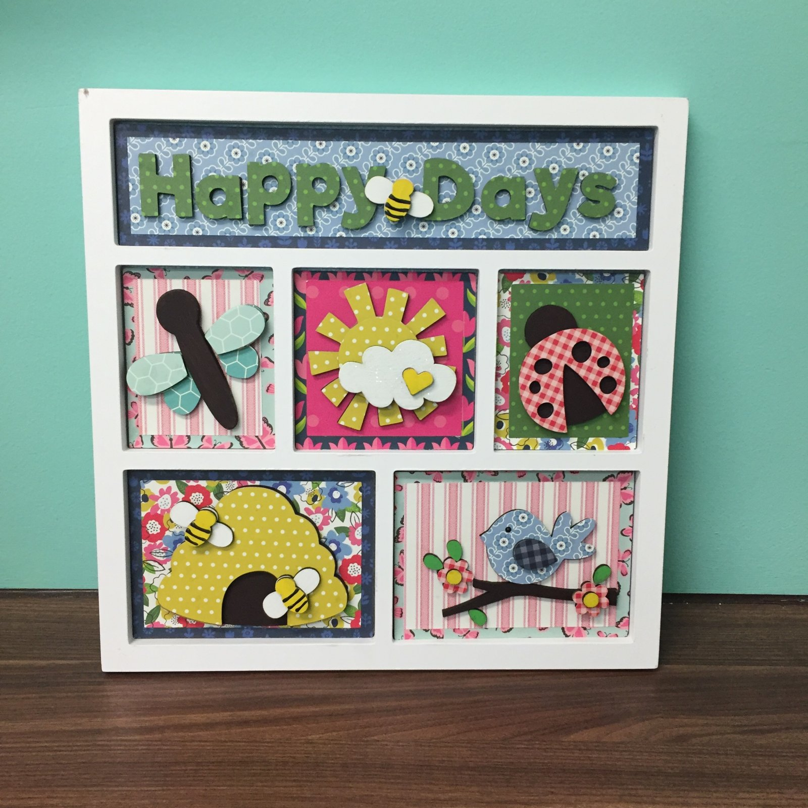 Project Kit - Happy Days Spring Shadow Box Inserts (Foundations Decor)
