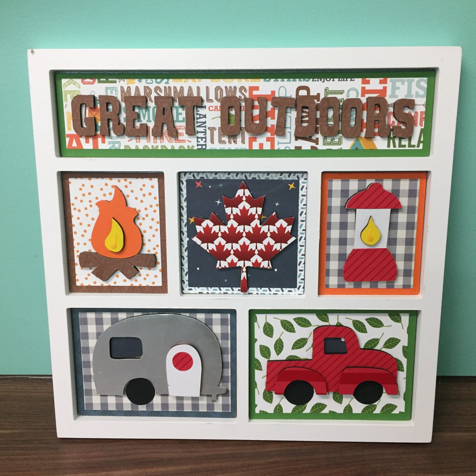 Project Kit - Great Outdoors Summer Shadow Box Inserts (Foundations Decor)