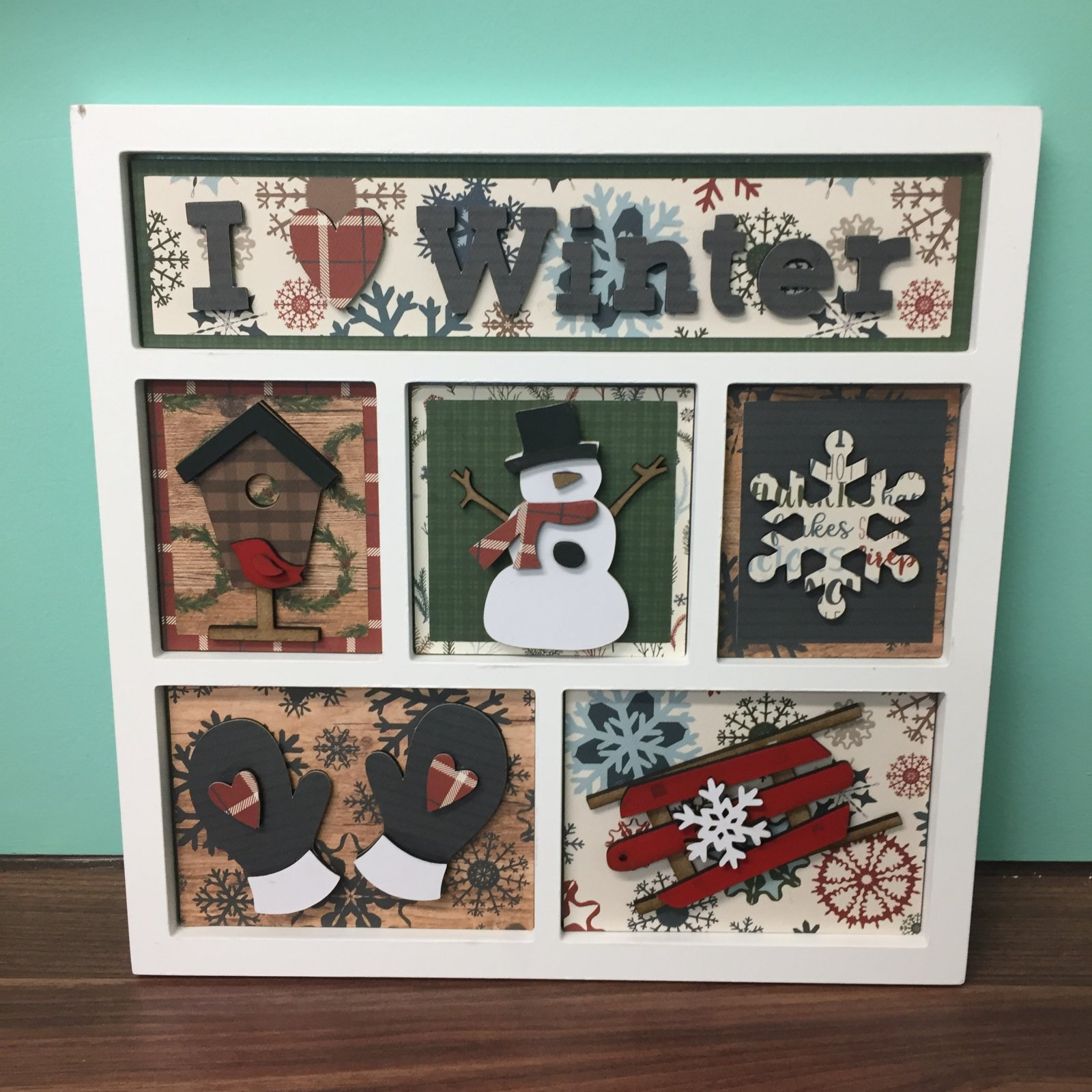Project Kit - I Heart Winter Shadow Box Inserts (Foundations Decor)