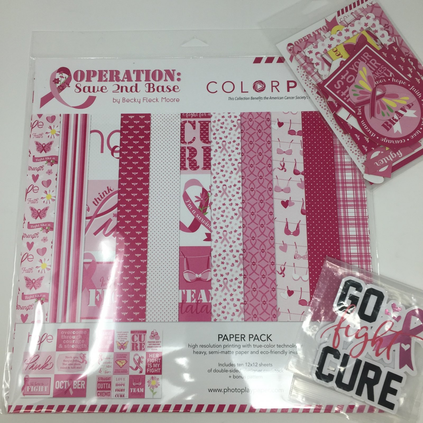 Colorplay Operation 2nd Base Bundle (Collection Kit and Ephemera Die Cuts)